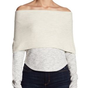 FREE PEOPLE Over It Off Shoulder Pullover Top
